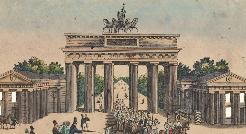 Das Brandenburger Tor in Berlin, um 1830
