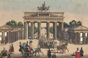 Das Brandenburger Thor in Berlin, um 1830. © Stadtmuseum Berlin